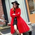 Korean Style Lady Real Sheared Rabbit Fur Coat Jacket Turn Down Collar Autumn Winter Women Fur Trench Outerwear Coats VF1087