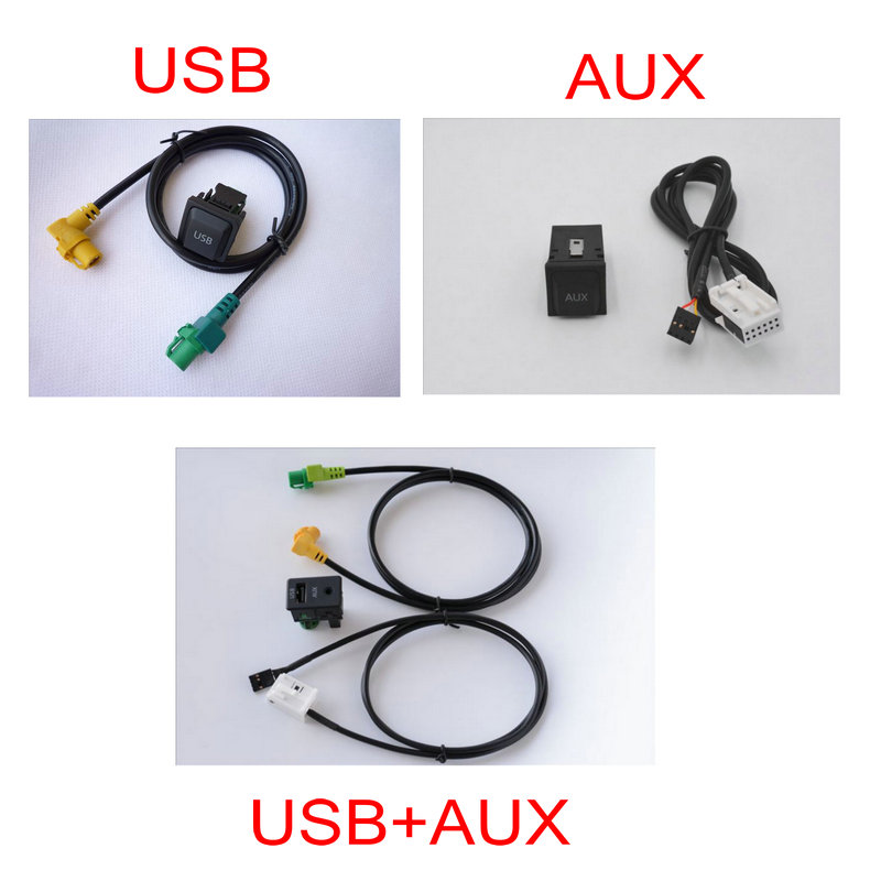 Apply to Jetta Bora <font><b>Golf</b></font> <font><b>6</b></font> Scirocco tiguan RCD510 RCD310 Three hundred ENS315 <font><b>USB</b></font> AUX switching harness Cable image