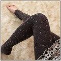 O envio gratuito de Mulheres de inverno leggings de lã térmica Mulheres inverno preto leggings desconto Promocional 5 cor menina leggings