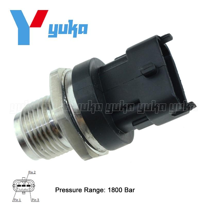 100 Test Fuel Rail High Pressure Sensor Common Injection Regulator Sender For CHEVROLET CAPTIVA EPICA 2