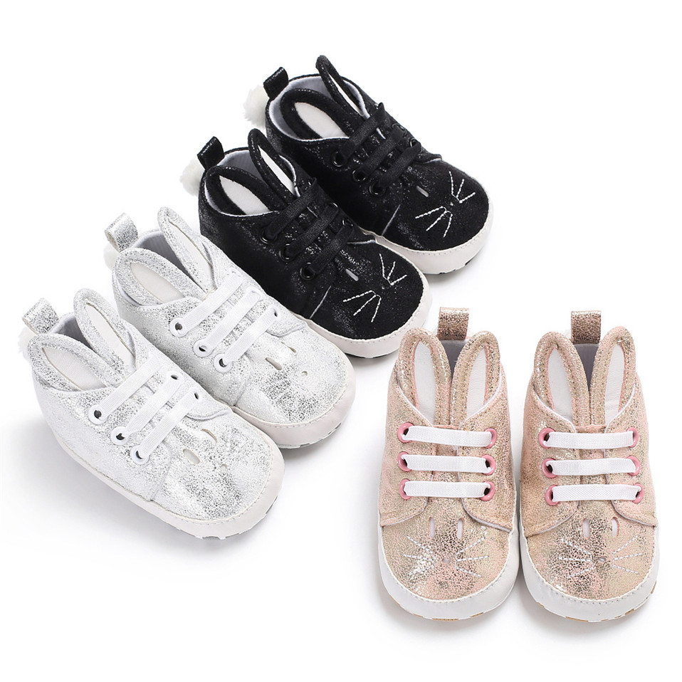 2019 Winter Anti-Slip Keep Warm Baby Shoes Print Animal Pattern Infant Toddler Baby Girls Boys Soft Bottom First Walkers