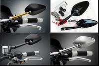 Hot 2pcs Big Brand Adjustable Motorcycle Mirror Heavy Duty Motorcycle Street Bike Bar End Mirrors Free