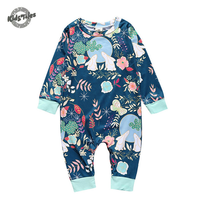 2dbe428fc Kids Tales Baby girls clothes Fashion 2017 summer baby rompers ...