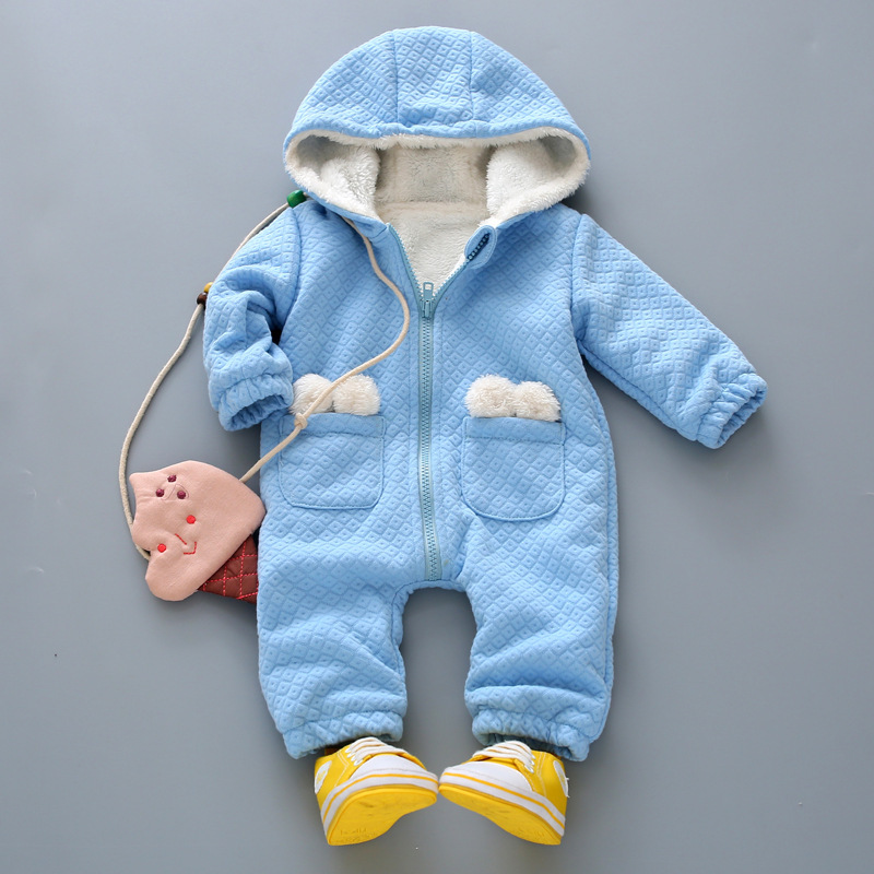 2016 baby boys girls cute rompers infant warm clothes hood jumpsuit coverall Knitted Sweater Christmas Outwear baby gift winter baby snowsuit baby boys girls rompers infant jumpsuit toddler hooded clothes thicken down coat outwear coverall snow wear