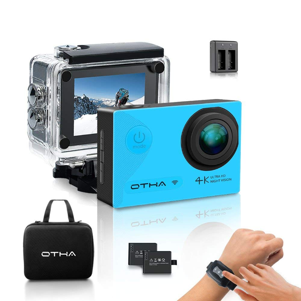 Action Camera-OTHA 4K Sports Camera with 2 Batteries and Helmet Accessories Kit,Perfect for Night Vision and Gyro Anti-Shake otha barrow reasserting western dominance