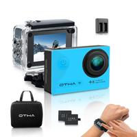 Action Camera OTHA 4K Sports Camera with 2 Batteries and Helmet Accessories Kit,Perfect for Night Vision and Gyro Anti Shake