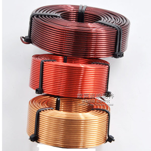 Image 1 - 1,0mm Hohl Inductor Dreidimensionale Hohe Reinheit Sauerstoff freies Kupfer Lautsprecher Frequenz Teiler Kupfer Spule Audio Zubehör