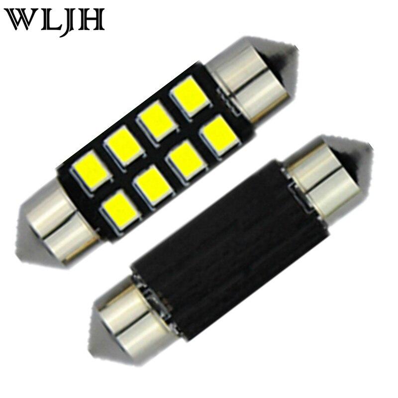 2X 6 LED Pure White Car Festoon Interior Dome C5W Lights Lamp Bulb 36mm DC 12V