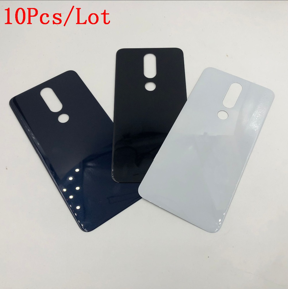 10Pcs/Lot Good quality Original New Glass Housing Panel For Nokia X5 X6 (2018) Back Cover Battery Cover Case Repair Part +Logo10Pcs/Lot Good quality Original New Glass Housing Panel For Nokia X5 X6 (2018) Back Cover Battery Cover Case Repair Part +Logo