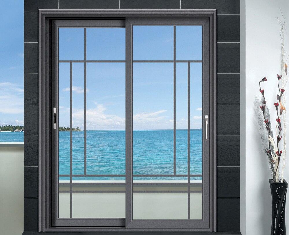 Doble acristalamiento de aluminio corredizas puertas en for Puertas corredizas