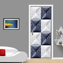 3d геометрические креативные дверные наклейки настенное украшение