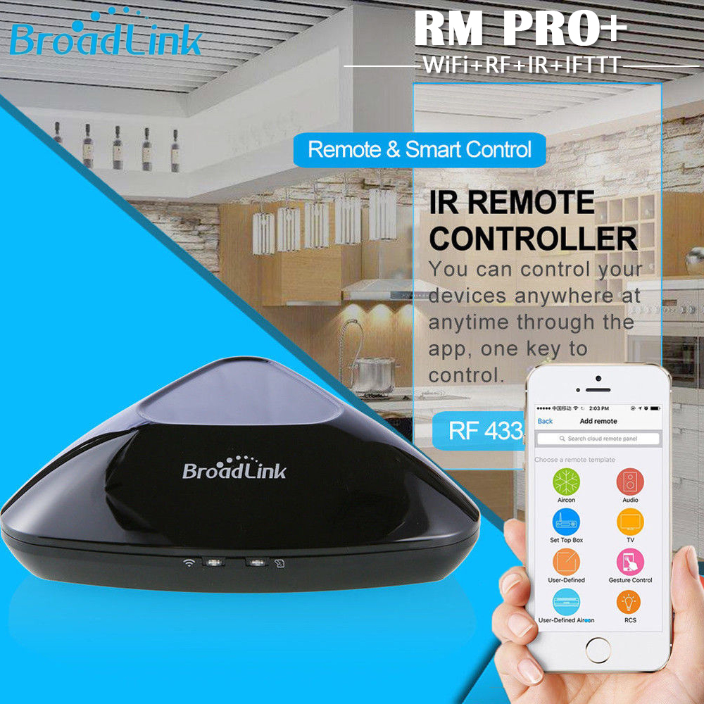 Broadlink Smart Home New RMPro RM Mini3 WiFi+IR+RF+4G Remote Control APP Voice Controller work for Alexa Google Home Automation