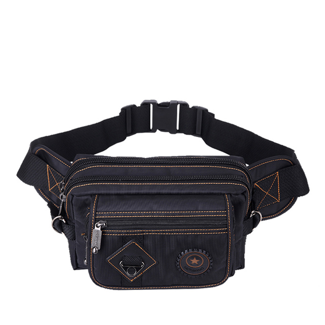 New Fanny Pack Casual Fashion Waist Bags Nylon Men's Shoulder Messenger Bag Large Cell Phone Bags