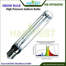 EU/ US standart 90000Lumens Super High Pressure Sodium Grow Bulbs Lamp 600W HPS for Flowering Growth with 24000h Life