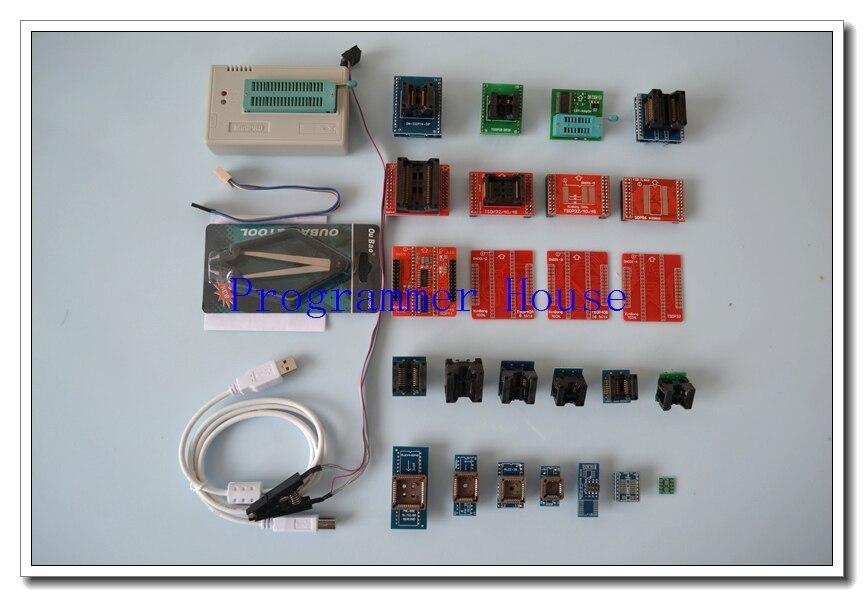 V7.32 XGECU TL866A TL866II Plus Universal minipro programmer TL866 nand flash AVR PIC Bios USB Programmer+27 pcs adapters
