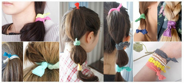 Free shipping Women Girl hair accessoeies Fabric Hair Ties Set of 12 Mix  Colors Knotted Hair Band No Pull Ponytail Holders HJ011-in Hair Jewelry  from ... bd12cf39ef9
