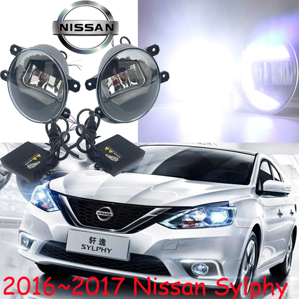 Sylphy daytime light,2015~2017!Free ship!LED,car-styling,2ps/set;Sylphy fog light;chrome;car-covers,Lannia car styling sylphy daytime light 2006 2011 chrome car detector led free ship 2pcs sylphy fog light car covers sylphy bluebird