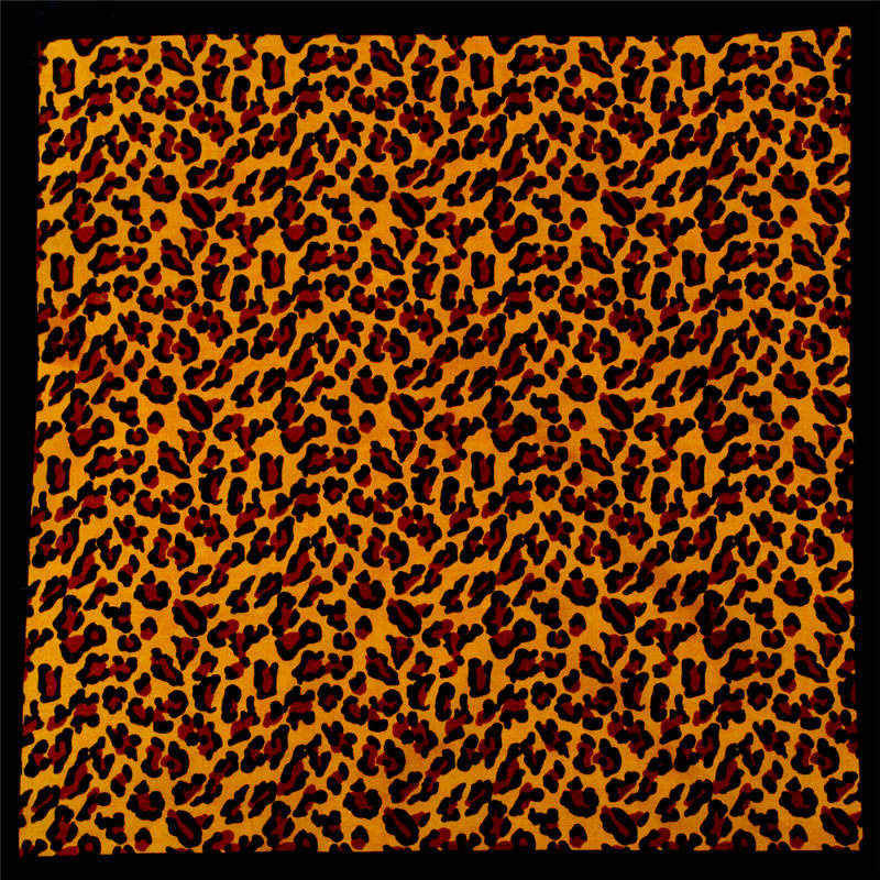HUOBAO Hip-hop Leopard print Bandanas Outdoor Riding Square Scarf For Male Female Head  Scarves Wristband Pocket Towel