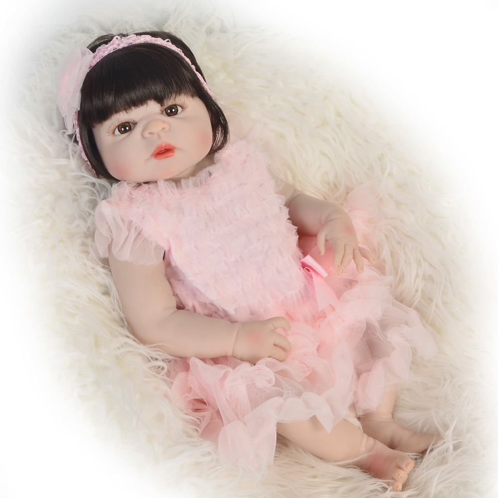 55cm Full Silicone Body Reborn Baby Doll Toy Like Real handmade Princess Babies Doll Bathe Toy Kid Gift toy birthday presents55cm Full Silicone Body Reborn Baby Doll Toy Like Real handmade Princess Babies Doll Bathe Toy Kid Gift toy birthday presents