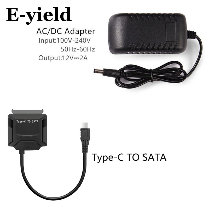 Type C USB 3.1 Male to SATA 22 Pin 1.8/2.5/3.5inch Hard disk drive SSD HDD Adapter Cable for Macbook & Laptop usb 3 1 type c usb c male to sata 22 pin 2 5 hard disk driver ssd support otg function adapter cable 20cm for macbook