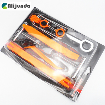 Alijunda Car styling 12pcs Car Radio Door Clip Panel Kit For BMW 1 2 3 4 5 6 7 Series X1 X3 X4 X5 X6 325 328 F30 F35 F10 F18 image