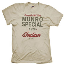 Munro Special 1920 Speed Record Indian Bike Distressed Print Natural T-shirt  Harajuku Tops Fashion Classic Unique free shipping