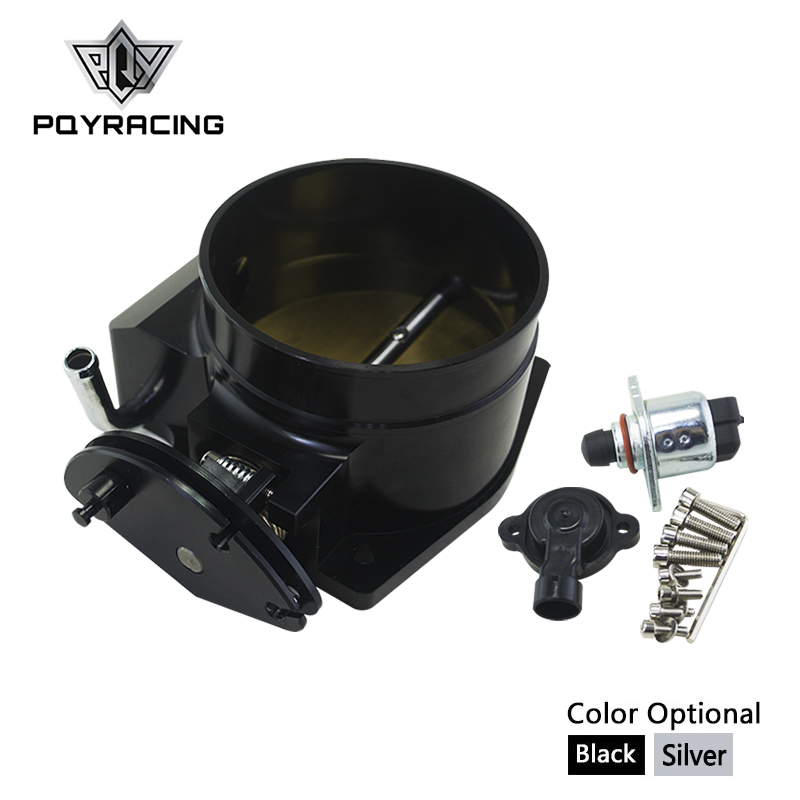 PQY - 102mm throttle body + TPS IAC Throttle Position Sensor for LSX LS LS1 LS2 LS7 SILVER BLACK PQY6938+5961 pqy racing free shipping 92mm throttle body tps iac throttle position sensor for lsx ls ls1 ls2 ls6 pqy6937 5961