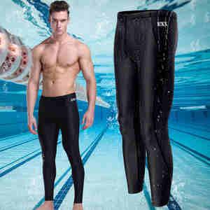 f0815559ee Beach Swimwear Men's sharkskin water repellent long swimming trunks Sport  shorts