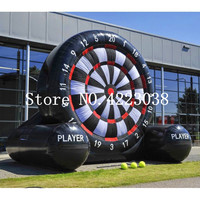 Free Shipping 4m Giant PVC Inflatable Foot Darts Board Game,Inflatable Kick Darts,Inflatable Football Target Dart Board
