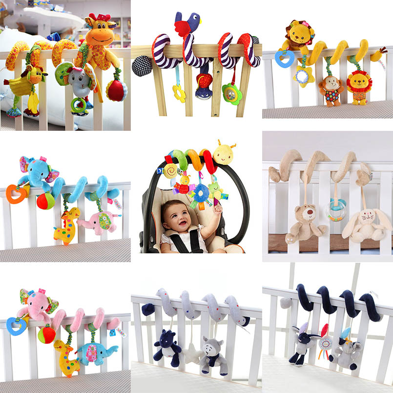 Myk Infant Crib Bed Barnevogn Toy Spiral Baby Leker For Newborns Bilseter Hengende Bebe Bell Educational Rattle Toy For Gift