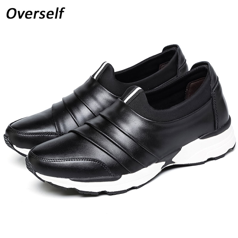 Men Shoes Fashion Moccasins Loafers Leather Shoes Men S Flats Slip On Casual Spring Autumn Shoes