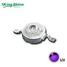 36 шт. УФ фиолетовый светодиодный ультрафиолетовые лампы чипы 3 Вт УФ светодиодный 395-405nm для отверждения, сушки чернил. тайваньский чип Epileds