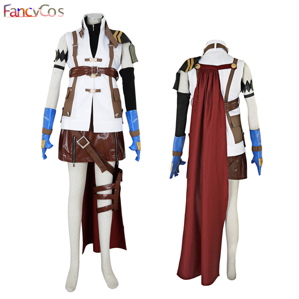 Halloween Women's Final Fantasy XIII Lightning Dress Cosplay Costume Game Adult Costume Movie High Quality Deluxe