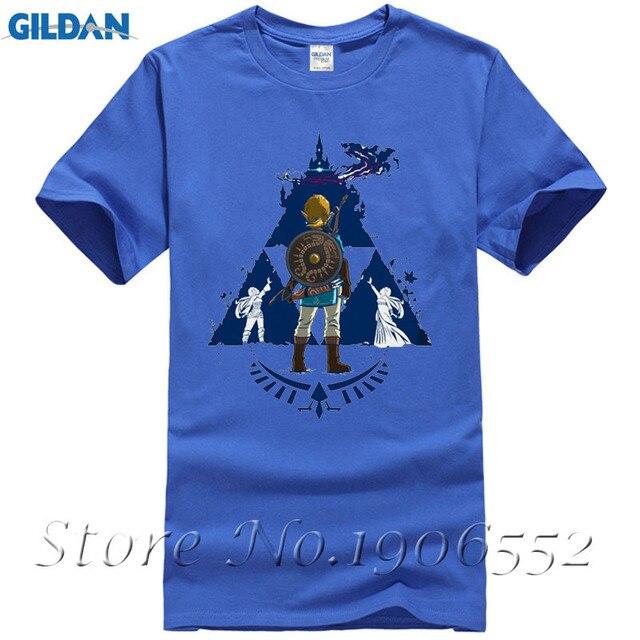 5e3906b3 2017 Latest Link TriForce Logo Zelda T Shirt Brand Modal Breathe The Legend  Of Zelda Design T-Shirt Chic Tops Tees Free Shipping