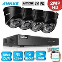 ANNKE 1080P 5in1 4CH CCTV Home Camera System Lite H.264+ DVR 2X/4X TVI Smart IR Dome Weatherproof Cam Security Surveillance Kit