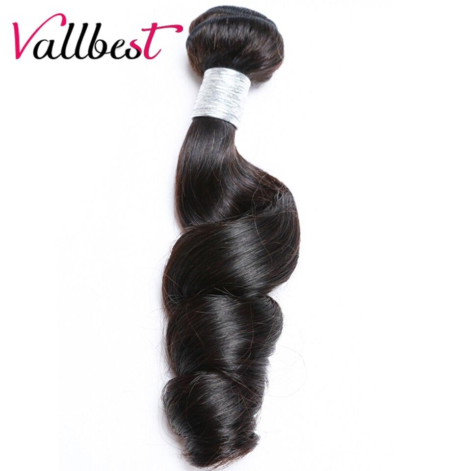 Vallbest Brazilian Hair Weave Loose Wave Bundles Human Hair Extension #1B Natural Black  ...