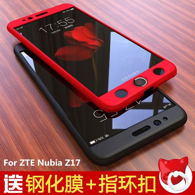 Per ZTE Nubia Caso Z17 5.5 pollice Con Vetro Temperato Del Fumetto Caso Duro di disegno Per Nubia Z17 360 Full Body Protettiva Copertura Coque