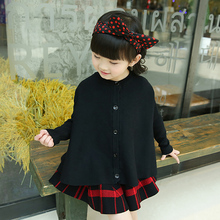 2017 new spring clothes baby pure cardigan cloak girls a wool knitted cardigan sweater female children