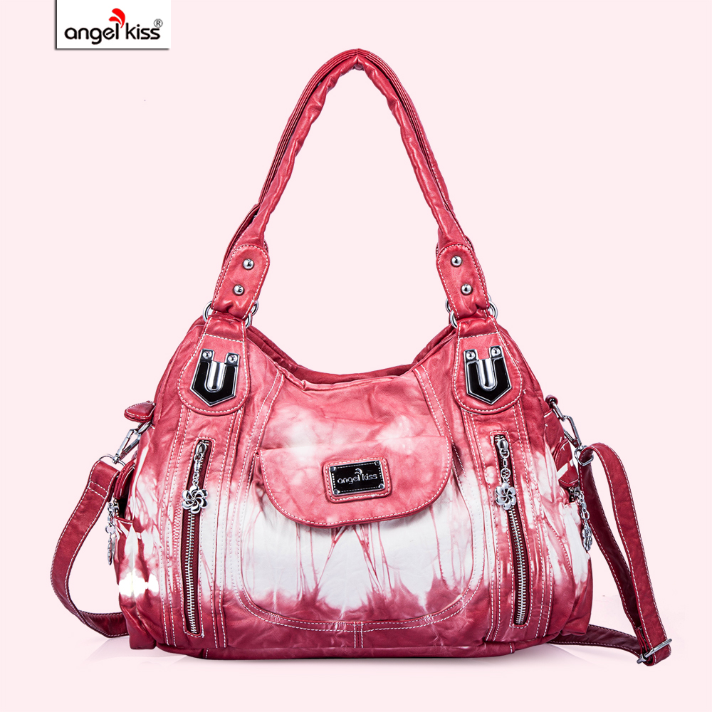 Hobo Fashion Women Bag Roomy Multiple Pockets Street Ladies Shoulder PU Tote Satchel for Handbag