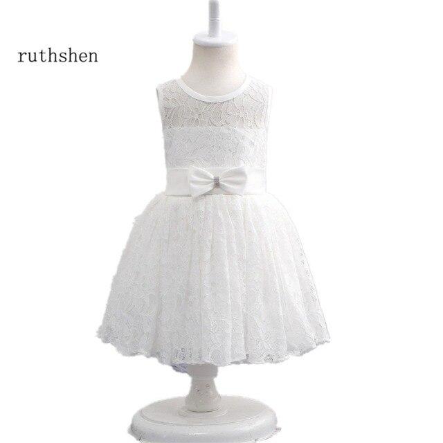 Ruthshen Blume Mädchen Kleider Weiß/Elfenbein Kurze Formale Hochzeit ...