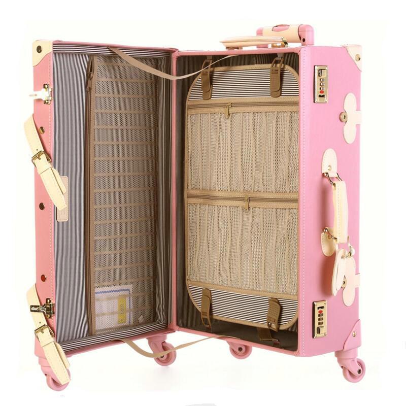 Aliexpress.com : Buy Fashion Women Travel Suitcase PU Leather ...