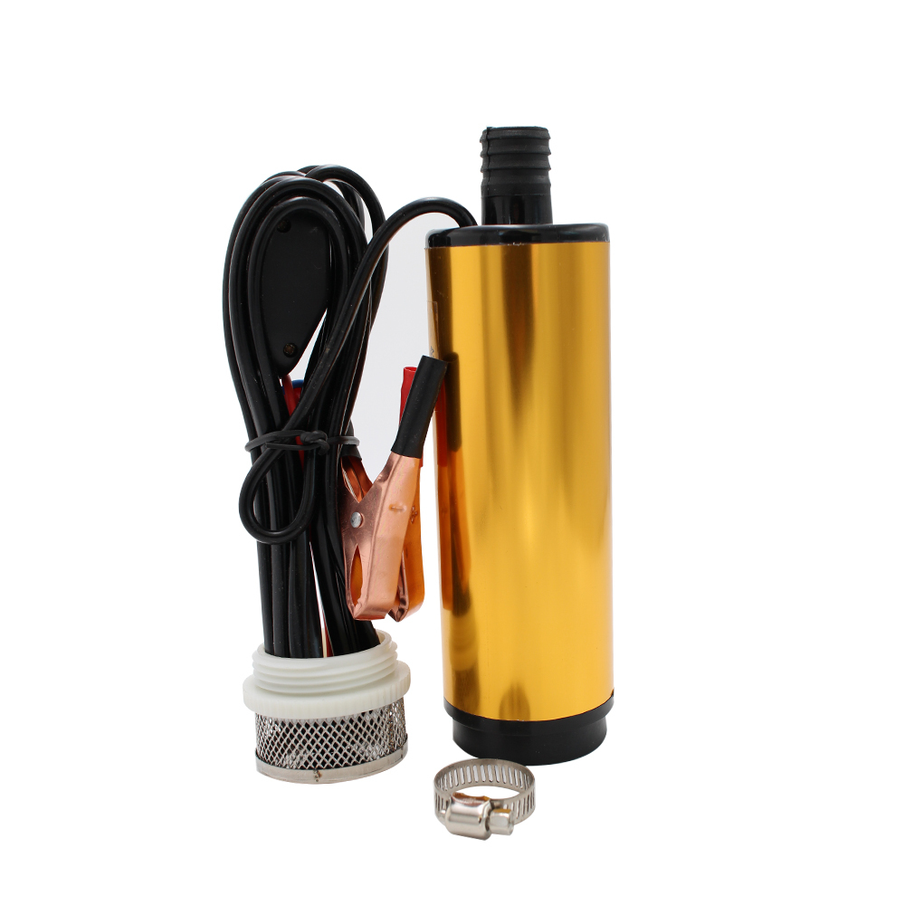 Aluminium Alloy 30L/Min DC 12V 24V Submersible oil Diesel pumps water On/Off Switch Car Camping Portable fuel transfer