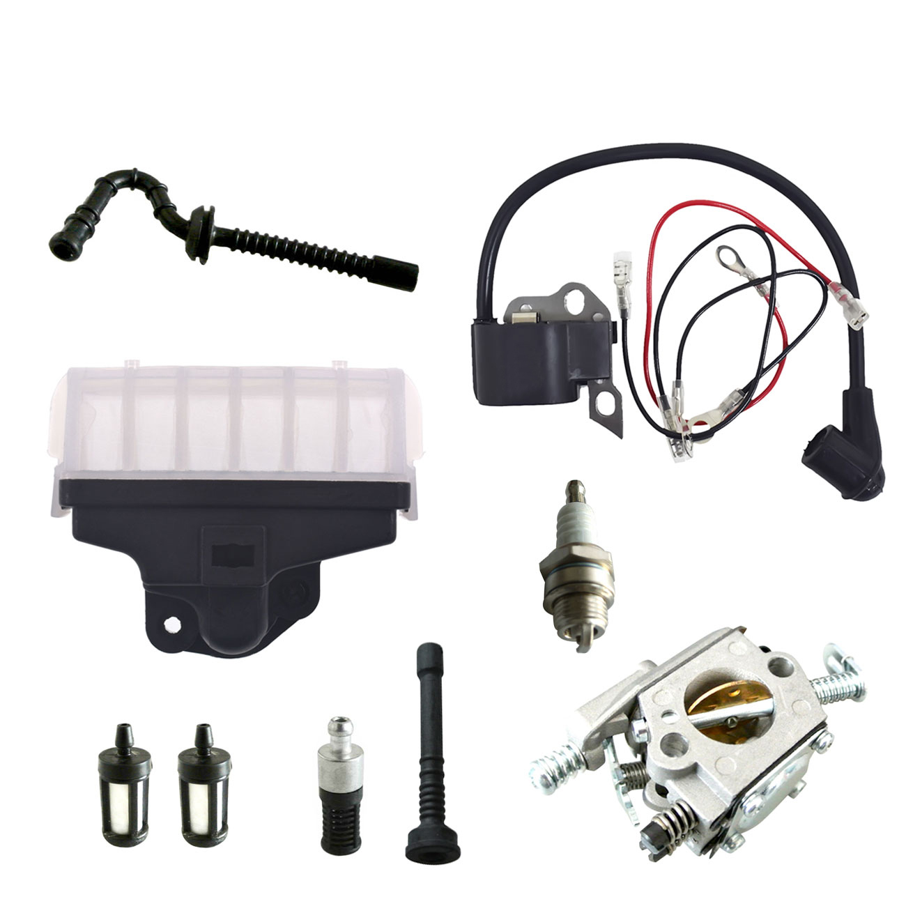Image 3 - Ignition Coil Carburetor Kit Spark Plug For STIHL Chainsaw 021 023 025 MS210 MS230 MS250-in Chainsaws from Tools