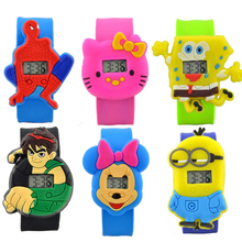 19 Colors Fashion Kids Slap Watches Children Cartoon
