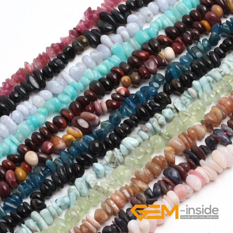 6x8mm Freeform Natural Stone Beads: Peridot,amazonite,Aventurine,Sun Stone,Tourmaline,Garnet,Chalcedony,Strand 15
