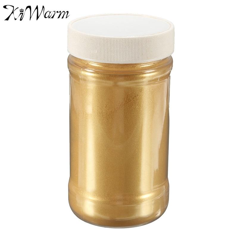 Kiwarm 1pc 100g Gold Ultrafine Glitter Pearl Pigment