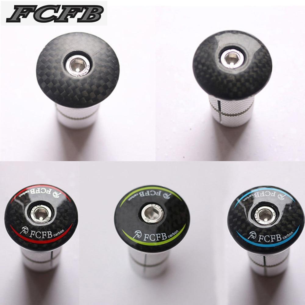 2017 FCFB Bike Carbon Fiber Headset Stem Top Cap Key Expander 28.6mm 1 1/8 Steerer Plug For Road MTB Bike Carbon <font><b>Fork</b></font> Bicycle
