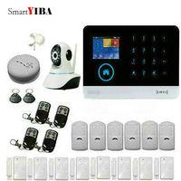 SmartYIBA 3G WIFI IOS Android APP Control Network Camera Motion/Smoke/Door Alarm Home Security Smart House Alarm System