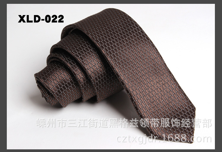High Quality Polyester Microfiber Male Skinny Dots Striped Necktie