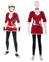 Gratis Pocket Envios Monster Pokémon IR Entrenadora Avatar Rojo Vestido de Cosplay del Anime